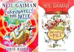 Cover images for Fortunately the Milk by Neil Gaiman