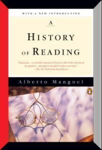 Cover image for A History of Reading by Alberto Manguel