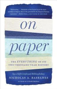 Cover image for On Paper by Nicholas A. Basbanes