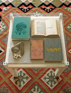 Image of the gallery table from Novel Living by Lisa Occhipinti