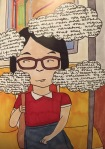Art from Last Night's Reading by Kate Gavino.